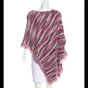 Missoni Fringe-Trimmed Wool Poncho